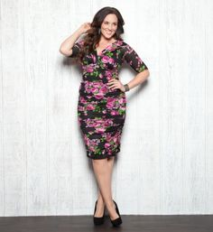 Gotta Have It: Betsey Ruched Dress and more by Kiyonna