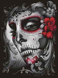 New tattoo ideas female skull awesome 22 ideas – tatoo La Muerte Tattoo, Catrina Tattoo, Sugar Skull Mädchen, Sugar Skull Tattoos, Day Of The Dead Girl, Day Of The Dead Skull, Body Art Tattoos, Girl Tattoos, Los Muertos Tattoo