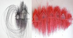 Architectural Sculptures By David Moreno Look Like Wild Pencil Sketches Building Drawing, Building Sketch, Architecture Collage, Concept Architecture, Drawing Hands, Architectural Sculpture, Old Wallpaper, Colossal Art, Spanish Artists