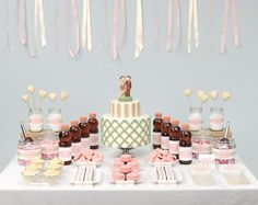 Candytable in Rosa und Grün – Rosé and green candy table – www.weddingstyle.de
