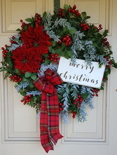 Christmas Deluxe  Wreath French Country WreathJoyeux