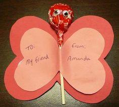 Lollipop Valentine Butterfly   Fun Family Crafts