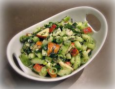 Apfel-Gurken-Salat. #LeckeresausThüringen #wirkochenunsdurchdeutschland