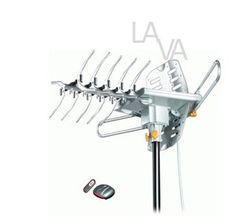 LAVA HDTV Antenna with Remote Control HD-2605 by Lava. $59.62. The HD-2605 is our most powerful Antenna, with built in super low noise amplifier, it covers reception ranges up to 125 miles.  The HD-2605 is more range than the HD-2805, but the HD-2805 is easier for installation by yourself.  The HD-2605 HDTV Antenna equiped with motor rotor and remote control. You don't need to go out to move the antenna for specified direction any more. Just use the remote control in...