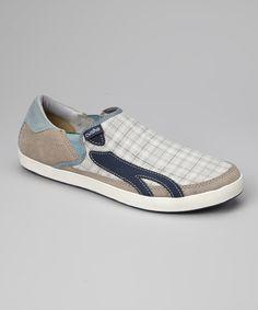 Blue & Gray Plaid Duke Slip-On Sneaker