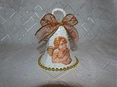 Breskinka / Zvonček pleteny z papiera...