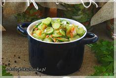 SALATKA Z OGORKOW OBIADOWA - do sloikow na zime Potato Salad, Potatoes, Snacks, Canning, Ethnic Recipes, Food, Appetizers, Potato, Essen