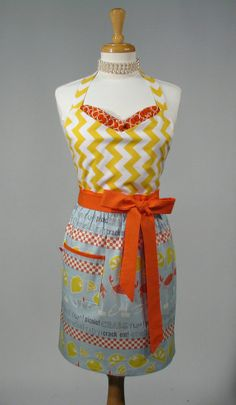 Womens Bib Apron  Handmade Vintage Inspired by SwankyPlaceAprons, $34.50