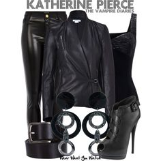Inspired by Nina Dobrev as Katherine Pierce on The Vampire Diaries. Vampire Diaries Outfits, The Vampire Diaries, Vampire Dairies, Tv Show Outfits, Emo Outfits, Fashion Outfits, Womens Fashion, Rave Outfits, Katherine Pierce Outfits
