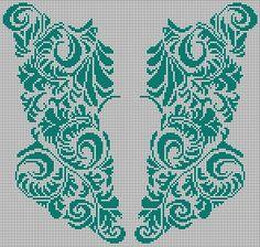 Filet Crochet Charts, Knitting Charts, Knitting Patterns, Crochet Patterns, Cross Stitch Art, Cross Stitch Embroidery, Cross Stitch Patterns, Fillet Crochet, Palestinian Embroidery