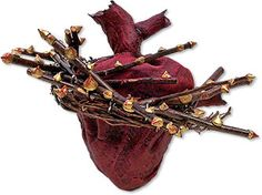 Tricia Dalziel's Sacred Heart is one of a series of 20 sculptures in her Verses Of The Heart series created as part of a personal healing process.   How to take heart | Polymer Clay Daily