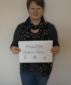 Nichola would spend the extra time she had, if cold calls were to stop, sorting out her Christmas shopping! #ReclaimMyTime