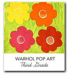 Video and lesson plan that shows kids how to create a print in the style of Andy Warhol's silkscreen printing techniques