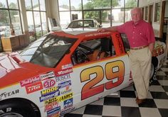 Cale Yarborough at his Florence SC dealership in one of his winning cars.