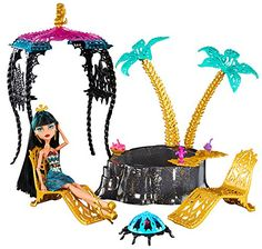 Monster High - 13 Wishes Playset - Desert Frights Oasis Playset with Cleo De Nile Doll: Amazon.de: Spielzeug