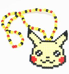 Pikachu was an unstoppable pokemon on the battle field and something tells us that you won't be able to stop those looks when your prowling around with this Pikachu Kandi Necklace. It is such an adora