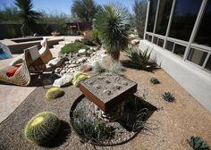 A Cool Desert Landscape From The Tucson Botanical Gardens Annual Garden  Tour Dry Garden, Home