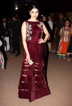 Prachi Desai's velvet gown