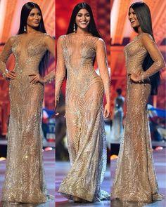 One of the best ever form Venezuela. The beautiful Sthefany Gutierrez, Miss Universe 2018 Second Runner-Up. Prom Party Dresses, Sexy Dresses, Nice Dresses, Girls Dresses, Elegant Dresses, Estilo Kaftan, Miss Universe Dresses, Disney Princess Dresses, Miss Dress