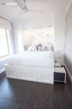 Small Bedroom Ideas, small master bedroom ideas, small bedroom decorating ideas, bedroom ideas for small rooms, small bedroom storage ideas Bedroom Makeover, Home Bedroom, Small Bedroom Storage, Closet Bedroom, Tiny Bedroom, Small Guest Bedroom, Bedroom Diy, Small Room Bedroom, Remodel Bedroom
