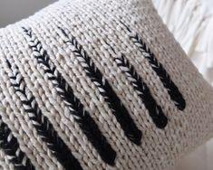 Monochrome Knit Pillow by Kate Smalley