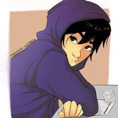 i think about how hiro must've been in high school a lot tbh Tadashi Hamada, Hiro Hamada, Hero 6 Movie, Disney Crossovers, Baymax, Big Hero 6, Cute Disney, Disney And Dreamworks, Princesas Disney