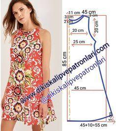 Dikiş Kalıpları ve Patronları (@dikiskalipvepatronlari): Elbise Kalıbı. 38/40 beden M beden