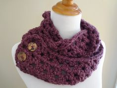 Gorgeous - MUST do! Fiber Flux...Adventures in Stitching: Free Crochet Pattern...Fiona Button Scarf!