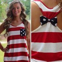 Wish   Womens Striped Casual Chiffon Vest Bow Tops