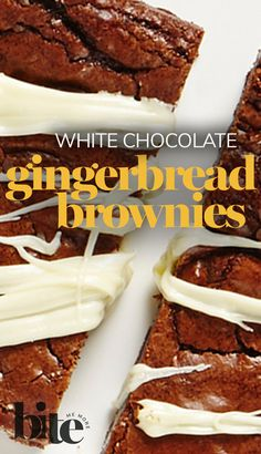 Lisa has huffed, puffed and blown the gingerbread house down with these moist and decadent White Chocolate Gingerbread Brownies. The perfect holiday dessert for the whole family. Send to a friend who LOVES creative holiday baking #fallbaking #winterbaking