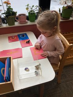 """""""What the hand does the mind remembers."""" - Dr. Maria Montessori 📸: Montessori sandpaper letters prepare your child for writing. Used with the language objects here to teach beginning letter sounds. See what sets Miniapple apart from other programs! What Is Montessori, Montessori Classroom, New Classroom, Maria Montessori, Learning Letters, Kids Learning, Sandpaper Letters, Teaching Credential"""