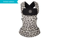 Babywearing makes life easier! I love this organic cotton, versatile Leopard Baby Carrier from Honest + Beco Baby.