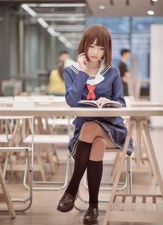 Like Beauty Life fo Keep Cover School Girl Japan, Japanese School Uniform Girl, Japan Girl, Beautiful Japanese Girl, Beautiful Asian Women, Cute Asian Girls, Cute Girls, Japonese Girl, Cute Kawaii Girl