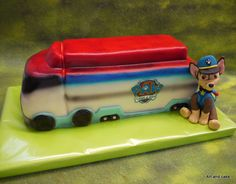 3D bus Paw Patrol cake/taart.. Made by Art and cake