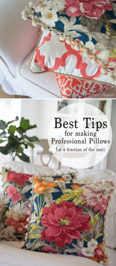 Sewing Cushions GREAT tips to make professional pillows for a fraction of the cost of buying them! - With just a little effort, you can take your homemade pillows to the next level. Use these simple tips to make professional pillows for your home! Homemade Pillows, Diy Pillows, Throw Pillows, Sewing Pillows Decorative, Pillow Ideas, Sewing Hacks, Sewing Tutorials, Sewing Crafts, Sewing Tips