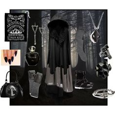 Bone Witch by maggiehemlock on Polyvore featuring Ivan Grundahl, E L L E R Y, Inga, Macabre Gadgets, Rachel Entwistle, Blind Spot, LowLuv, Carolina Amato and Christian Dior