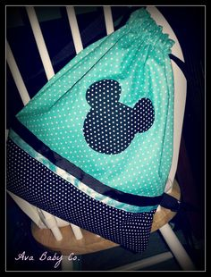 Personalized Disney Teal Polka Dot Minnie Mouse or by AvaBabyCo, $30.00