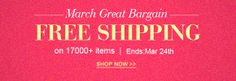 March great bargain on jewelry and findings, free shipping on 20000+ items  Ends: Mar 24th