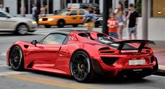 Chrome Red Porsche 918 Spyder Turns Heads On Miami Beach Porsche Tuning, Porsche 918 Spyder, Porsche Sports Car, Porsche Cars, Hey Porsche, Porsche 2017, Miami Beach, Top Luxury Cars, Super Sport Cars