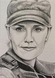 Stargate SG1 Samantha Carter Amanda Tapping ACEO Sketch Art Card Drawing | eBay