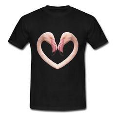 Flamingo-Herz T-Shirt | Spreadshirt | ID: 26288747