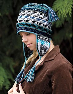 Andean Chullo Hat by Kerin Dimeler-Laurenc, knit picks, knitting pattern, hat