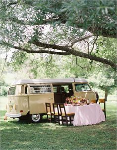 These days the flower child is a rose colored memory, but these Rosey Wedding Reception Ideas will show you just how vintage fab a themed wedding can be! Wedding Table, Wedding Reception, Reception Ideas, Festival Wedding, Casual Wedding, Floral Arrangements, Picnic, Place Cards, Dream Wedding