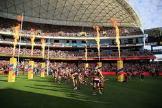 """Adelaide Crows 2015 - """"Player Run Out"""" - Event Presentation & Event Management Sports Marketing, Event Marketing, Experiential, Event Management, Event Styling, Event Planning, Crows, Presentation, Activities"""