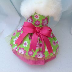 Easter Time Fun in the Sun Hot Pink & Lime Green by princessamee