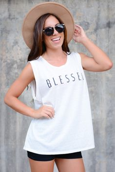 Blessed Tank – Eleven Lilies Boutique