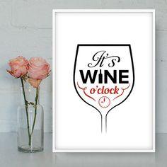 It's wine o'clock Funny wine quotes Wine decor Wine by Quotes2love