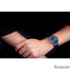 The power of blue by Guillot Bracelets Bleus, Men Dress, Watches For Men, Men Casual, Mens Fashion, Steel, Luxury, Classic, Blue