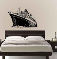 Vinyl Wall Decal Sticker Titanic Cruise Ship Home Decor Sticker Shop, Wall Decal Sticker, Victorian Wall Decals, Silhouette Vinyl, Boys Room Decor, New Room, Titanic, Vinyl Wall Decals, Wall Prints