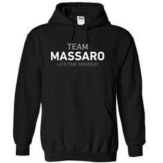 Team MASSARO - #gift wrapping #fathers gift. BUY TODAY AND SAVE => https://www.sunfrog.com/Names/Team-MASSARO-pkuskmfxsh-Black-14058615-Hoodie.html?68278